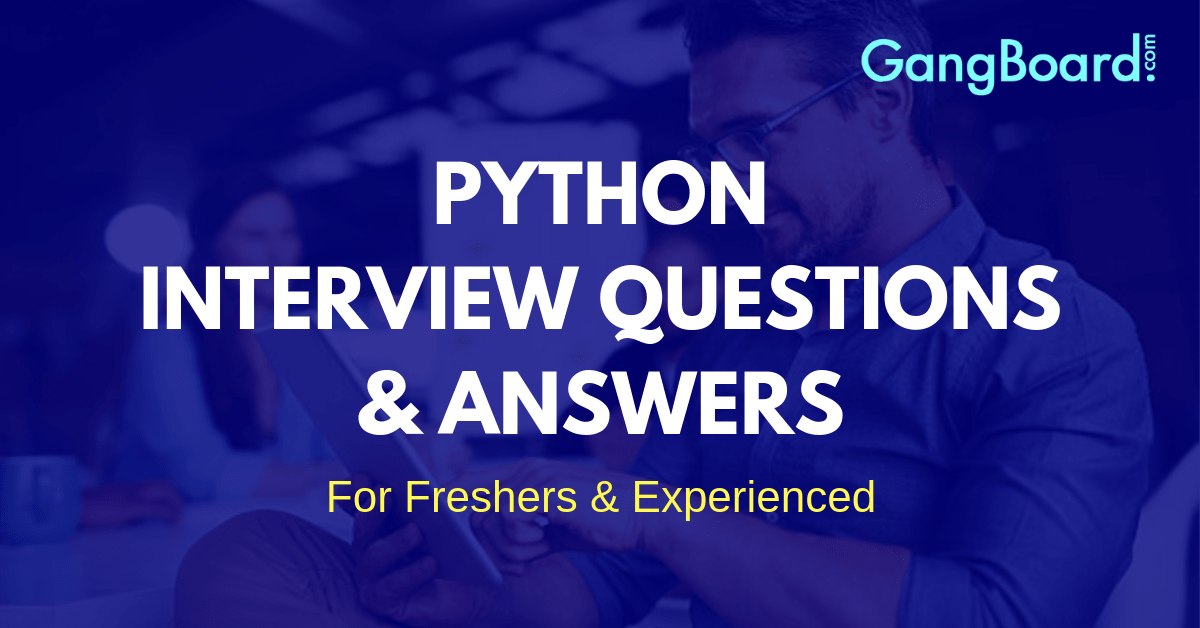 python interview questions and answer
