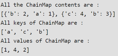 ChainMap Output