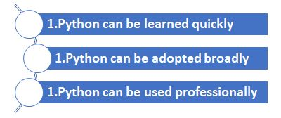 key advantages of python