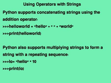 Operators with String