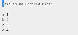 OrderedDict Output-2