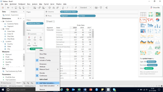 add tableau calculation text label