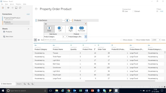 product category in tableau