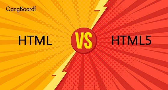 Comparison of HTML VS HTML5
