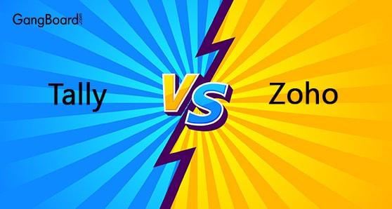 Comparison of Tally vs Zoho