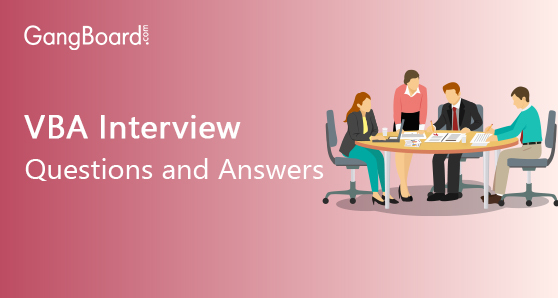 VBA Interview Questions