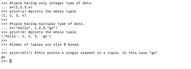 Tuple Data Type