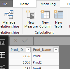 Creating Calculated Column