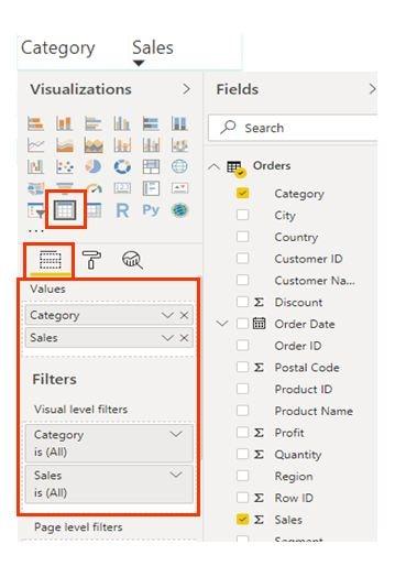 Power BI Data Visualization - Table