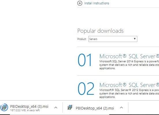 Power BI Desktop .exe file download