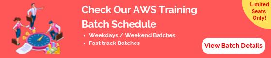 AWS Training Batch Schedule