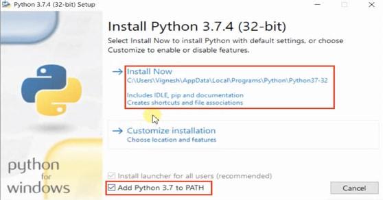 Install Python 3.7.4