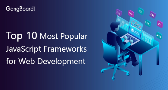 Top 10 most popular javascript frameworks for web development