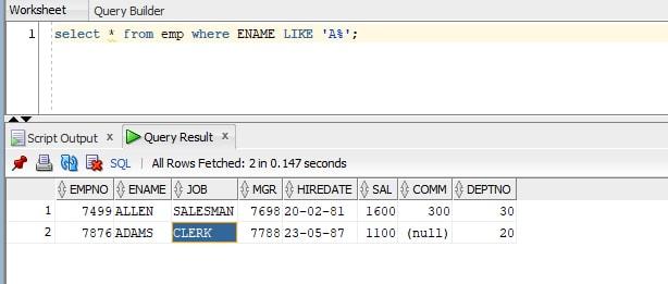 SQL Tutorial Scenario-1