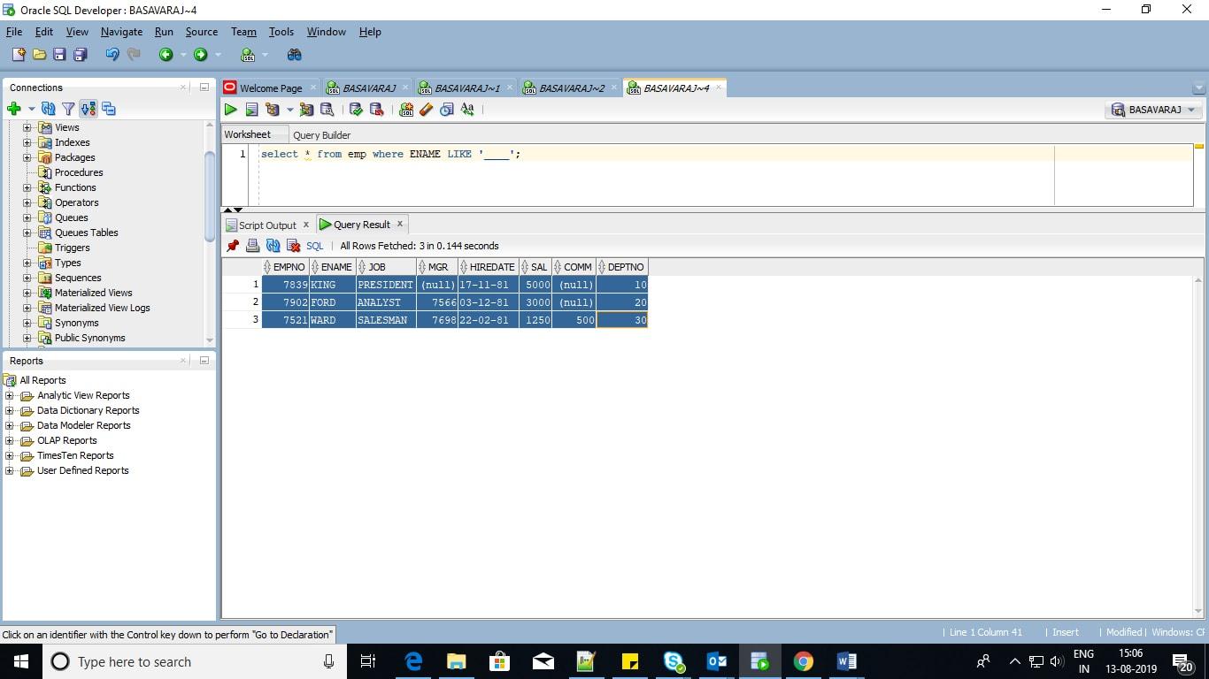 SQL Tutorial Scenario-4