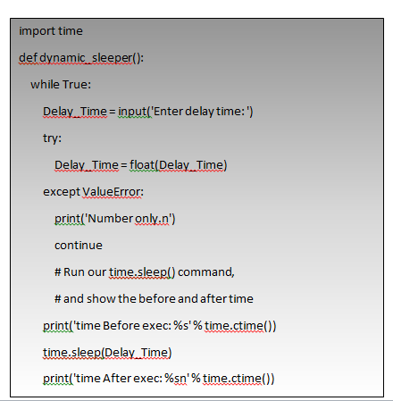 Dynamic Sleep in Python