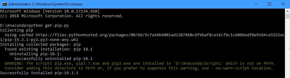Get PIP in Python