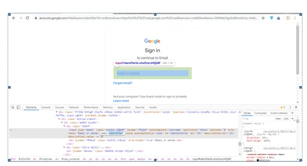 Launching Chrome Driver in Name Locator