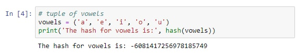 Python Hash on Immutable Tuple