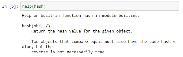 Python in Hash Object